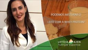 Embedded thumbnail for Podemos misturar o leite com a Whey Protein?